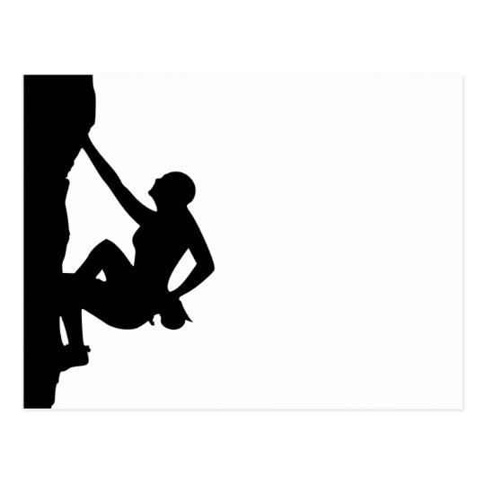 540x540 Rock Climbing Silhouette Postcard Zazzle.co.uk