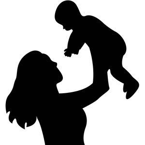 300x300 Mother Child Silhouette Clipart