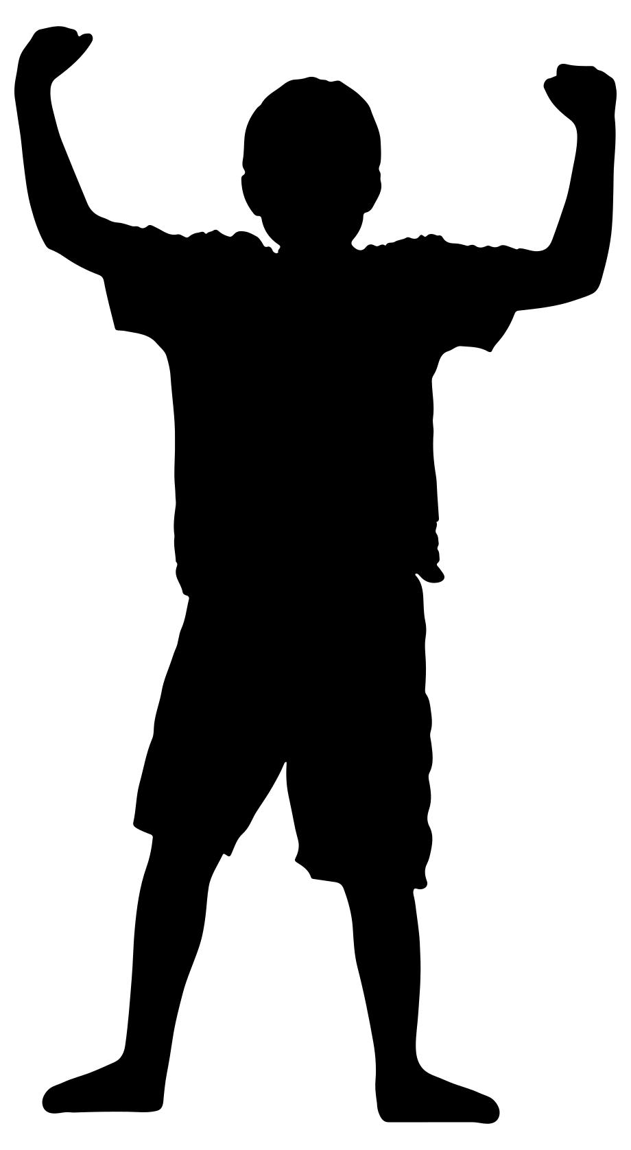 920x1676 Victory Boy Silhouette Clipart