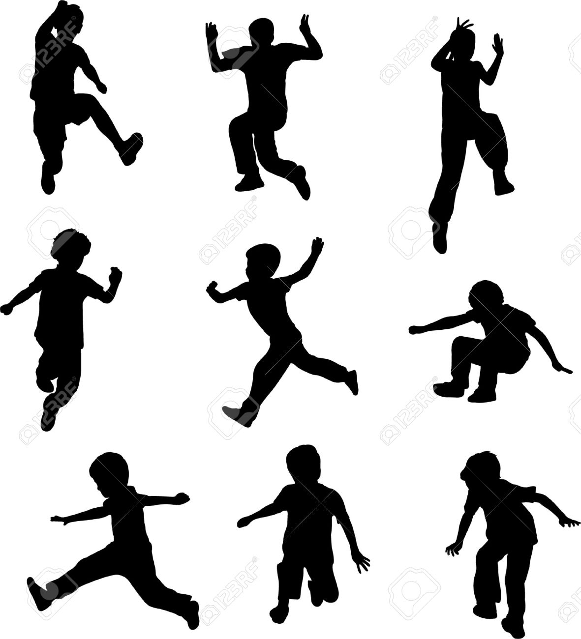 1181x1300 Children Running Clipart