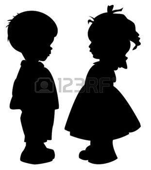 311x350 Silhouette The Two Silhouette Of A Boy And Girl Transfery
