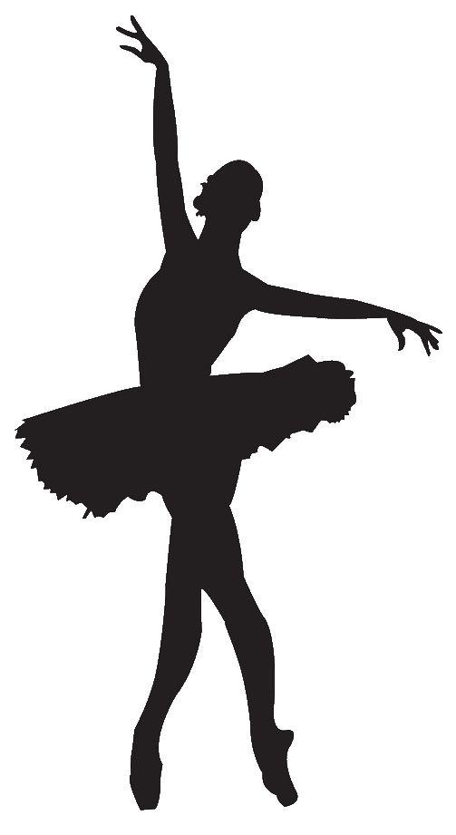 503x921 Silhouette Ballerina Clipart