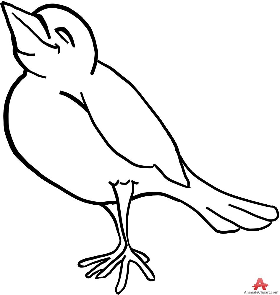 947x999 Clip Art Bird Outline Lemonize
