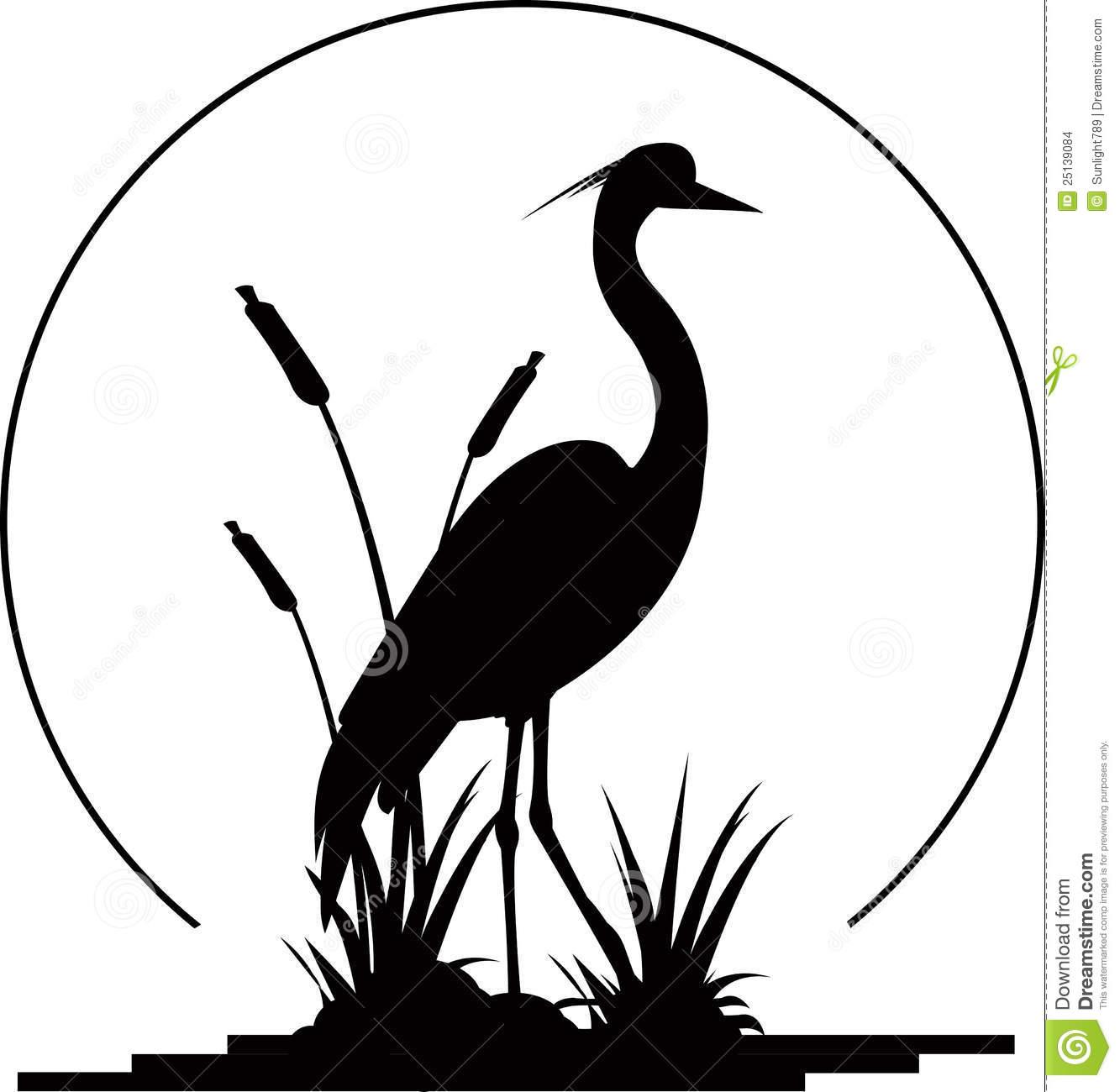 1333x1300 Heron Bird Silhouette Vector Silhouette Clip Art