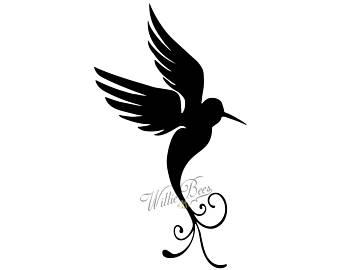 340x270 Hummingbird Svg Bird Silhouette Clipart Long Beak