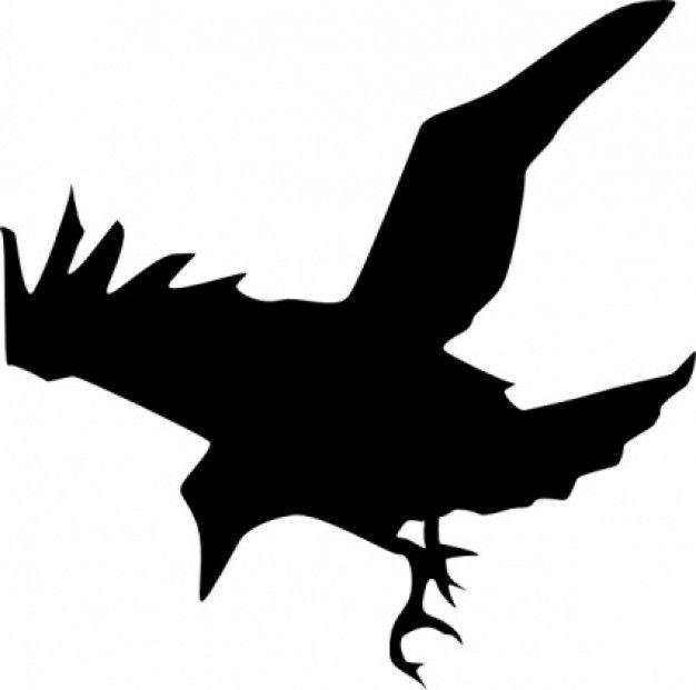 626x621 Silhouette Clipart Raven Silhouette Clip Art Download Free