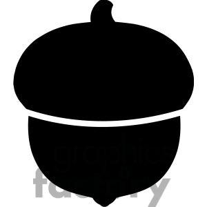300x300 Clip Art Of Black Acorn Vector Illustration Word Amp Clip Art