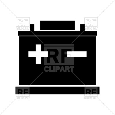 400x400 Car Battery Silhouette Royalty Free Vector Clip Art Image