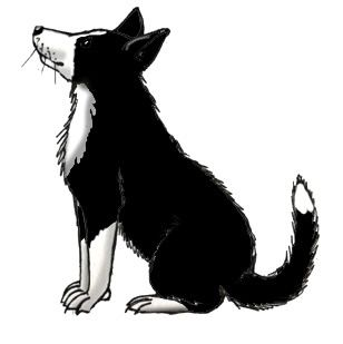 308x309 Farm Silhouette Clip Art Farm Dog (Border Collie)