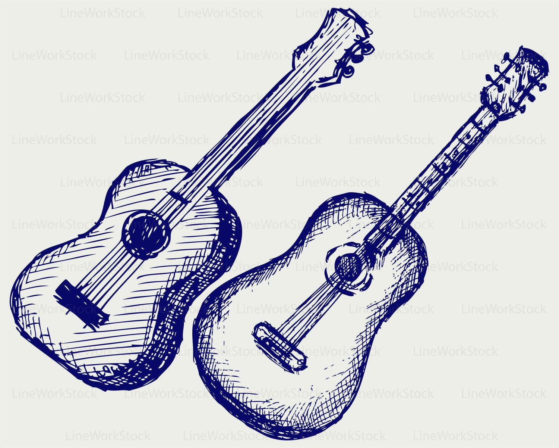 1500x1200 Guitar Svgguitar Clipartguitar Svgguitar Silhouetteguitar