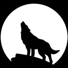 236x236 Howling wolf head drawing Wolf Howling With Moon Clip Art My