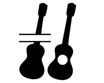 340x270 Guitar Monogram Frames Svg Dxf File Instant Download Silhouette