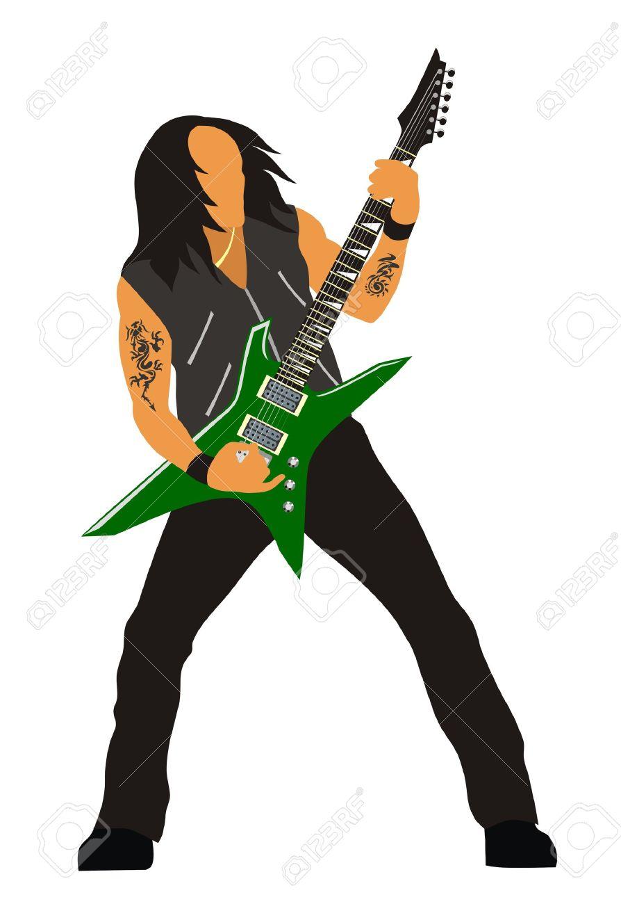 894x1300 Guitar Clipart Heavy Metal