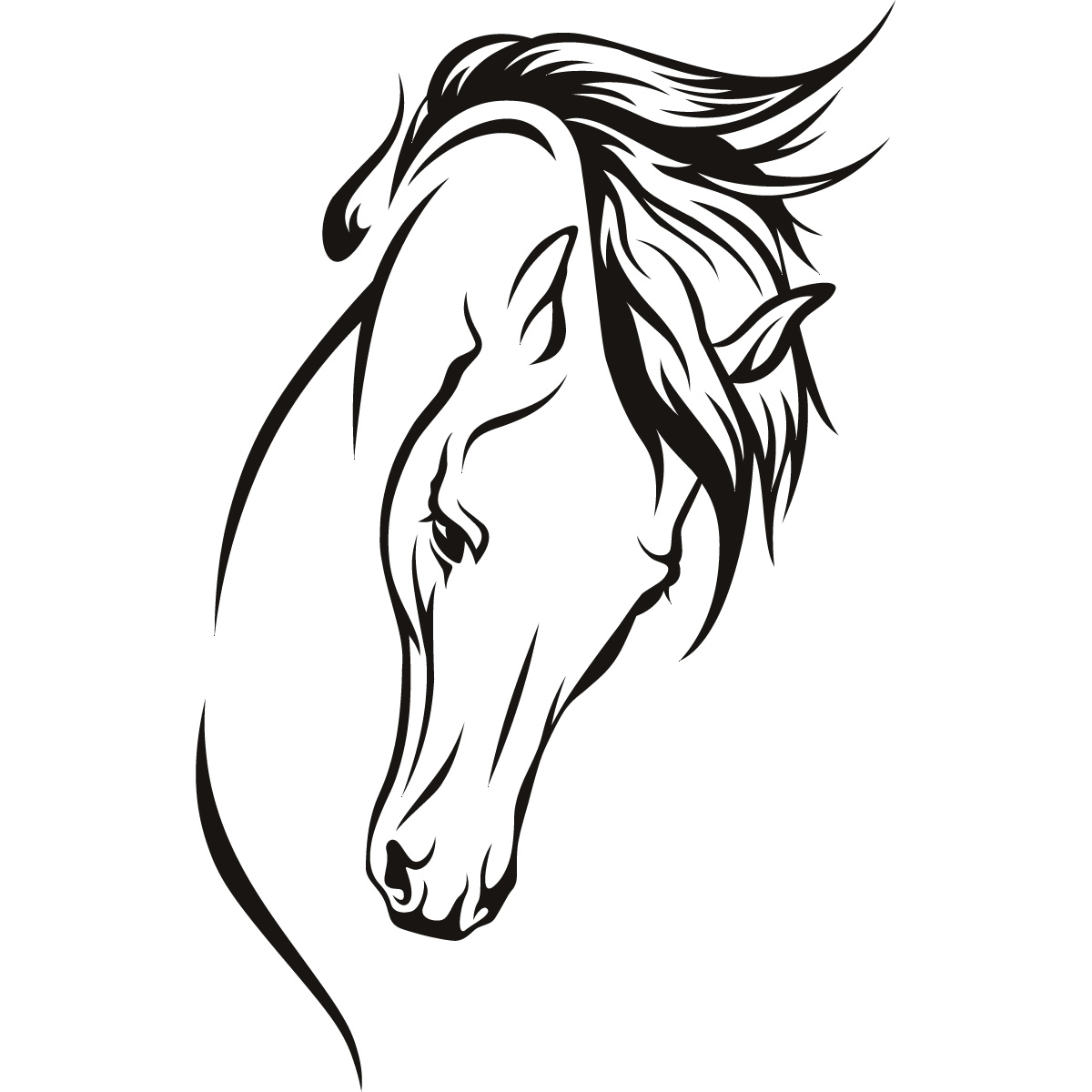 1200x1200 Horse Head Silhouette Coloring Page 11 Best Photos Of Horse Head