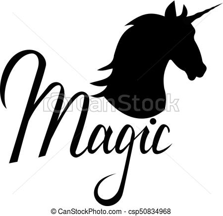 450x435 Unicorn Head Silhouette With Text. Inspirational Clip Art