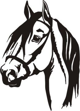 260x359 Window, Car, Vehicle, Trailer, Paso Horse Vinyl Decal Horse Head