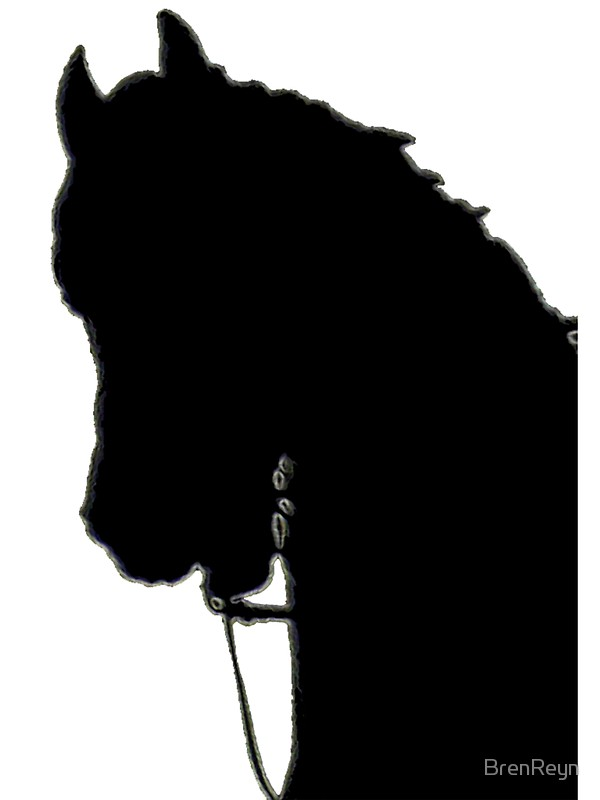 600x800 Horse Head Silhouette Stickers By Brenreyn Redbubble