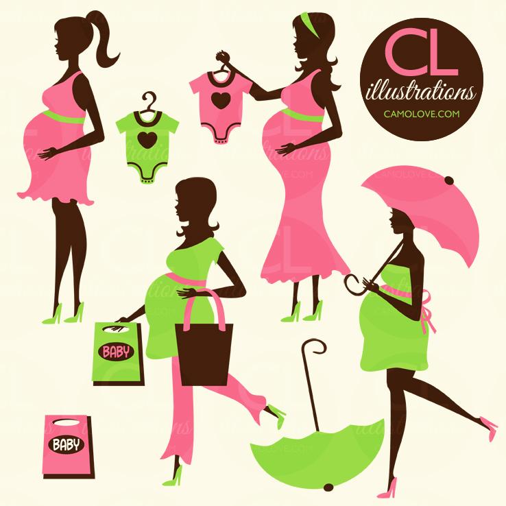 738x738 Free Pregnant Woman Clipart, Hanslodge Clip Art Collection