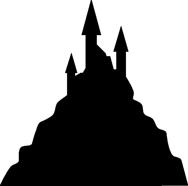 600x593 Spooky Castle Silhouette Clip Art