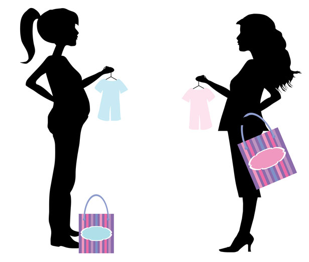 615x521 Free Pregnant Woman Clipart Image