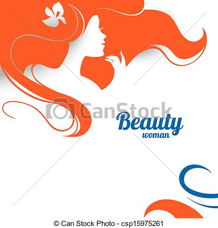 450x470 Beautiful Fashion Woman Silhouette. Paper Design Clip Art Vector