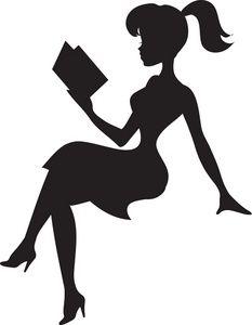 233x300 Women Silhouettes Victorian Women Silhouettes Clip Art