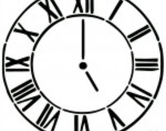 340x270 Clock Stencil Etsy