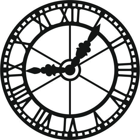 468x467 De Recherche D'Images Pour Stencil Horloge