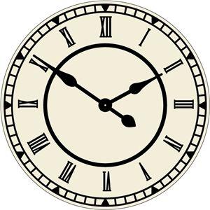 300x300 3414 Clock Silhouettte Clocks, Clock Faces