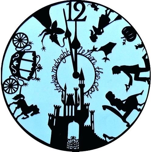 500x500 Cinderella Clock New Princess Silhouette Wall F Jim Shore Tower