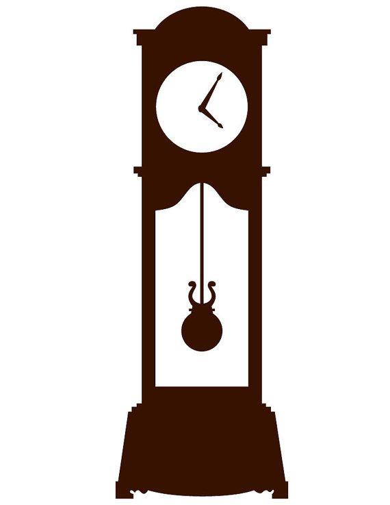 570x737 Drawn Clock Silhouette Vector