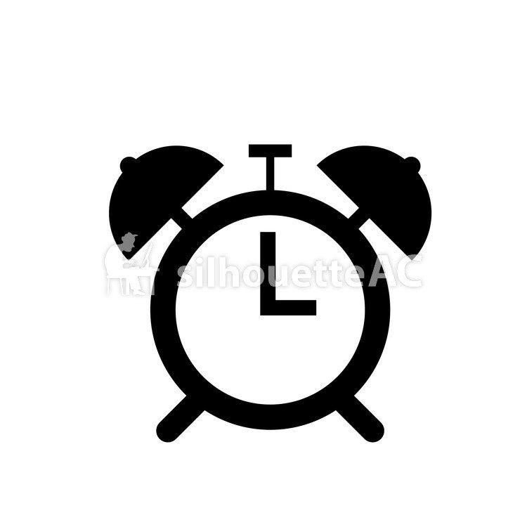 750x750 Free Silhouette Vector Alarm, Alarm Clock