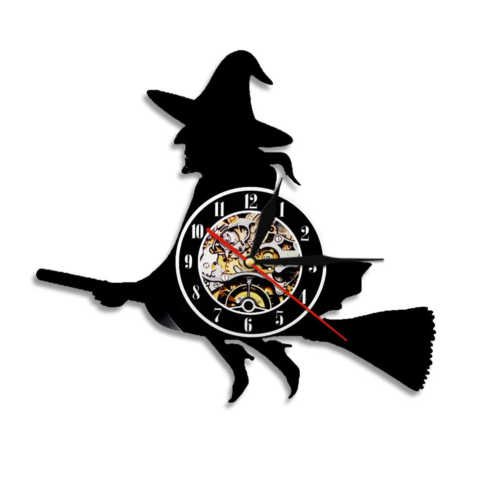 1000x1000 1piece Halloween Witch Hazel Silhouette Wall Clock Night