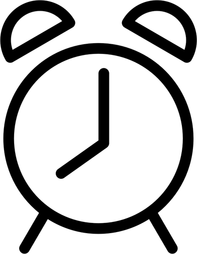 389x500 Alarm Clock Silhouette Public Domain Vectors