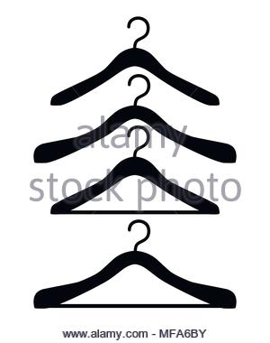 300x380 Silhouette Of Clothes Hanger