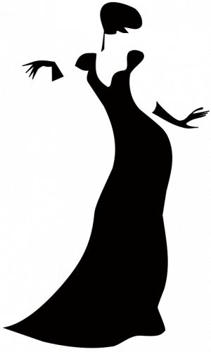 300x501 Black Dress Clipart Silhouette Many Interesting Cliparts