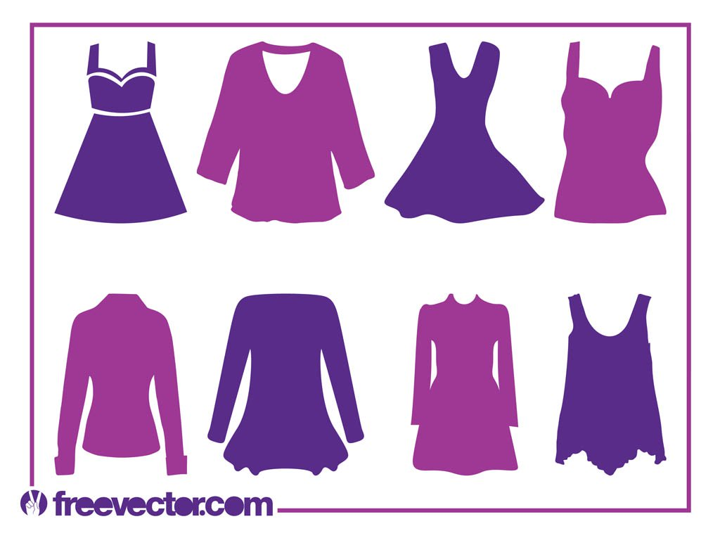 1024x765 Women's Clothes Silhouettes Vector Art Amp Graphics