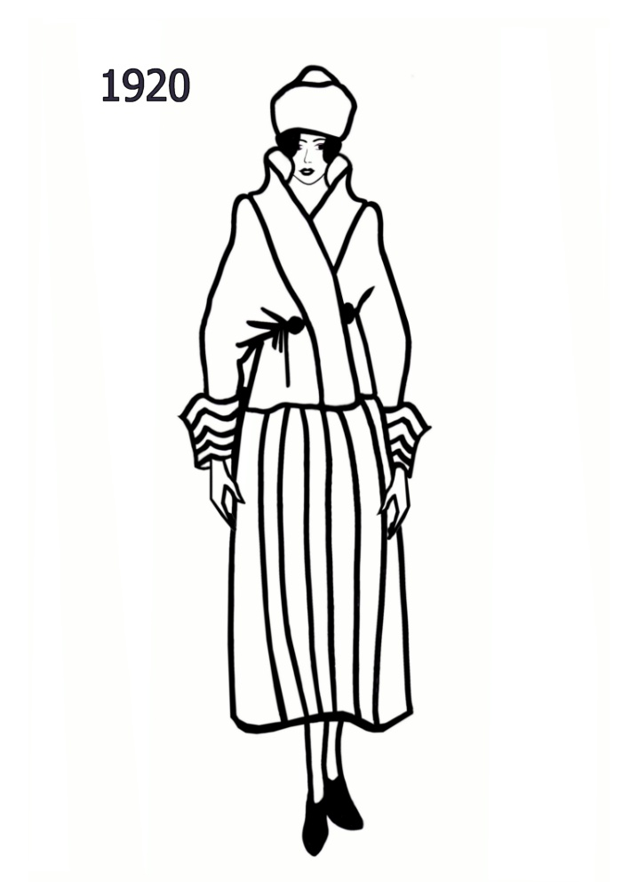 700x1000 Costume History Silhouettes 1920 1921 Free Line Drawings