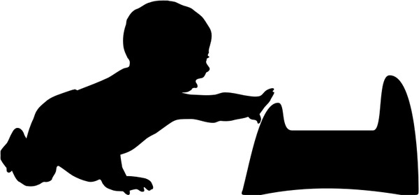 600x279 Baby Silhouette Free Vector Download (6,229 Free Vector)