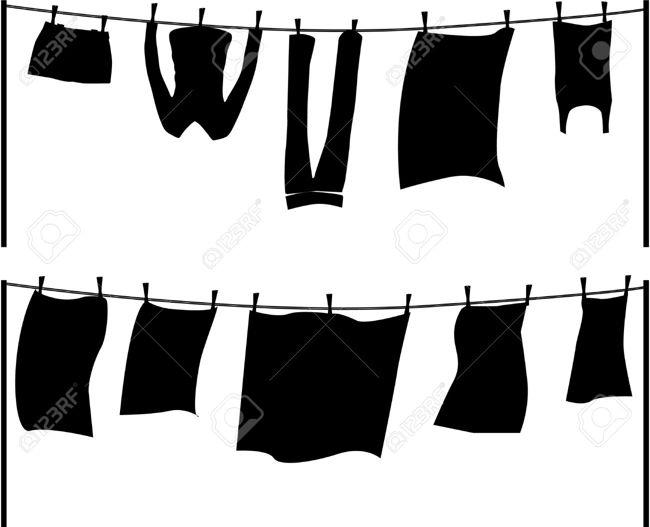 1300x1055 Clothesline Silhouette Clipart