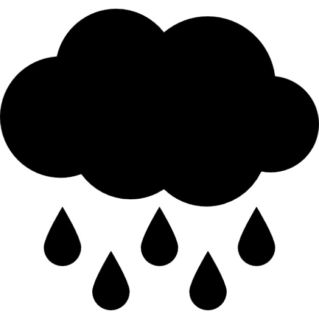 626x626 Rain Black Cloud With Raindrops Falling Down Icons Free Download