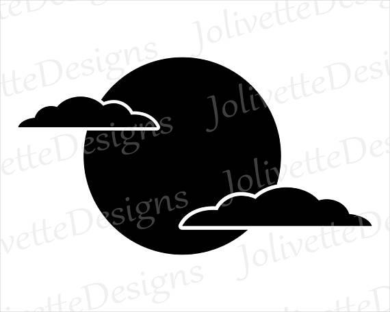 570x456 Full Moon, Clouds, Night, Sky, Clouds, Clip Art, Clipart, Design