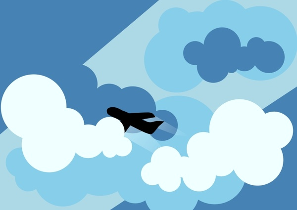 600x425 Plane Silhouette Flying Through Clouds Free Vector In Open Office