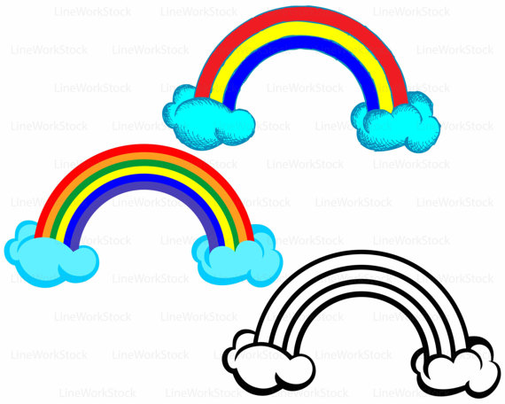 570x456 Rainbow Clouds Svgrainbow Clipartclouds Svgrainbow Silhouette