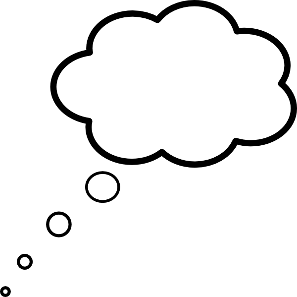 600x599 Cloud Thought Scaled Clip Art