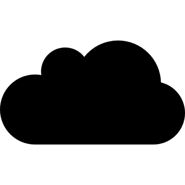 626x626 Cloud Silhouette Icons Free Download
