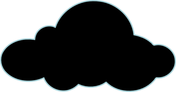 600x316 Clouds Clipart Silhouette