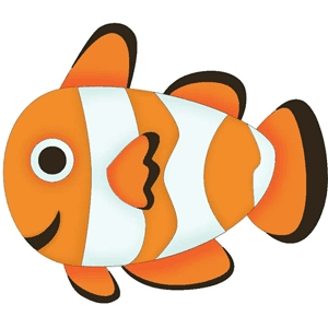 clown fish silhouette at getdrawings com free for personal use rh getdrawings com clownfish clipart black and white clown fish cartoon clipart