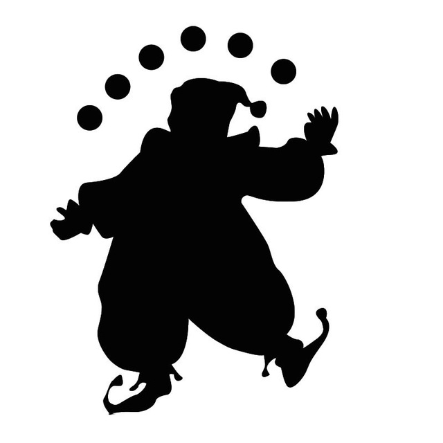 640x640 Creative Circus Home Decor Accessories Juggling Clown Wall Decal