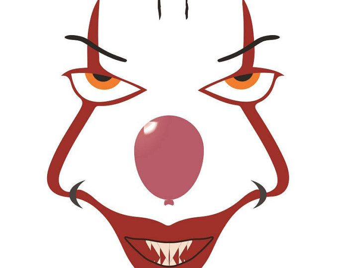 680x540 It Pennywise Svg, Pennywise The Clown, Cricut Cut File, Silhouette